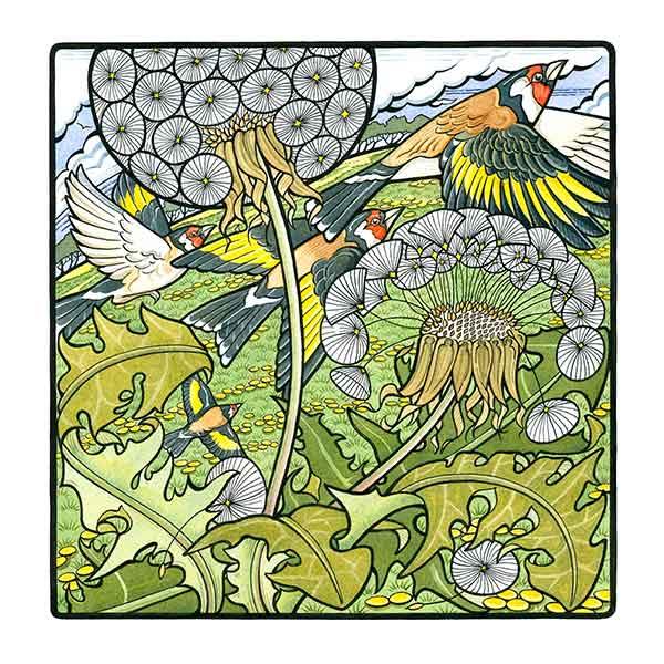 Goldfinch & Dandelion davidhallartist.info