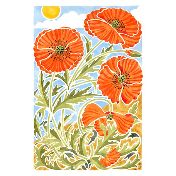 Poppies with Sun web davidhallartist.info
