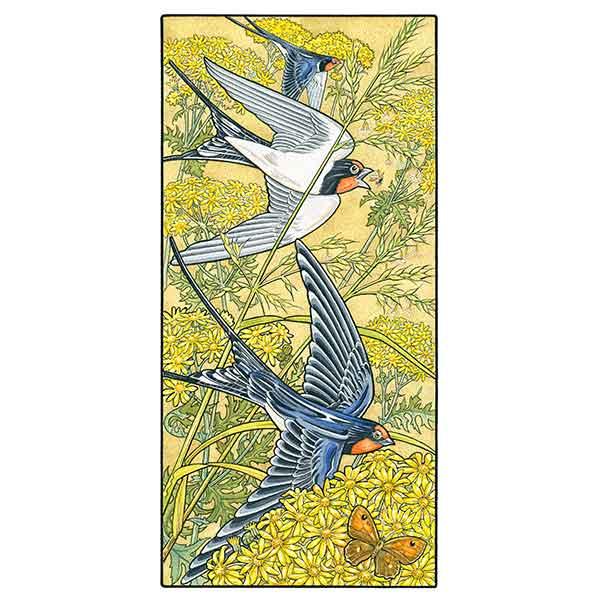 Swallows Hunting in Ragwort davidhallartist.info