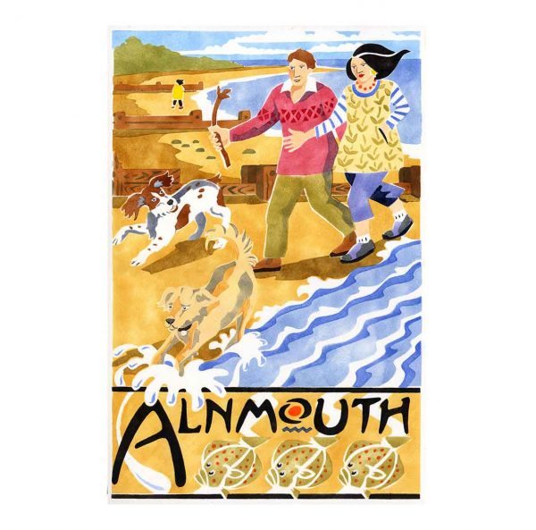 Alnmouth arts festival Dog walkers 2015 davidhallartist.info